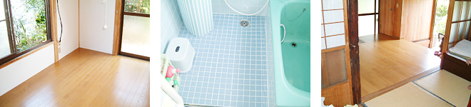 滑りの防止や移動を円滑にするための、床または通路面の材料の変更